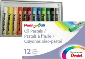 [Prime] Giz Pastel Oleoso, Pentel, Arts, Phn-12, 12 Cores R$ 6