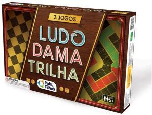 [Prime] Jogo de Tabuleiro 3 Jogos Ludo, Dama e Trilha Pais e Filhos R$ 20