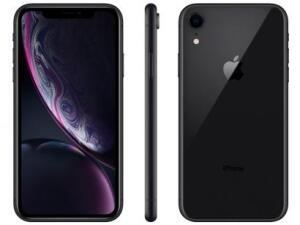 Apple iPhone XR (64GB, Preto e Branco)