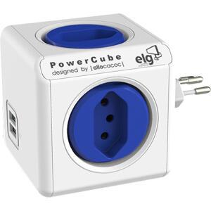 [CC Sub] Multiplicador de Tomadas Powercube 4 Tomadas + 2 USB 2.4A | R$97
