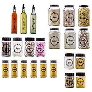 Conjunto de Potes Completo 23 peças Amare - Vetrolar R$ 170
