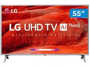 "[Clube da Lu + APP] Smart TV LED 55"" UHD 4K LG 55UM7520 ThinQ   R$1.988"