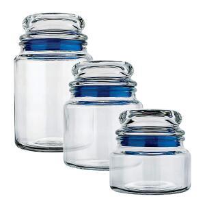 [Prime] Conjunto Potes de Vidro Multiuso 3 Peças Euro Azul R$ 31