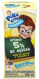 [Frete Prime] Bebida Láctea Sabor Baunilha Pirakids School 200ml - R$ 1,09 na compra de 5 ou mais
