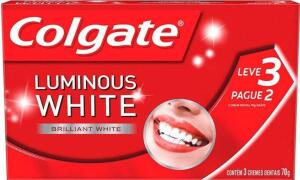 [PRIME] Creme Dental Colgate Luminous White 3 unidades 70g cada