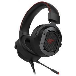 Headset Gamer Havit H2006U, USB Áudio 7.1, Black-Red