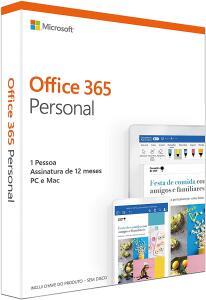 (67,97) Office 365 Personal - 1 Usuário, 12 meses Para Android, PC, MAC, IOS + 1TB na nuvem