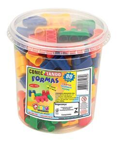 [Prime] Pote Conectando Formas Carlu Brinquedos R$ 12