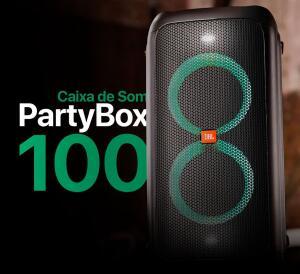 Caixa de Som JBL Partybox 100, Portátil, Bluetooth, Preta