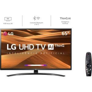"Smart TV LED 65"" LG 65UM7470 Ultra HD 4K com Conversor Digital 4HDMI - R$3239"