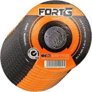 Kit 10 Discos de Corte Fino para Aco Inox 412 Pol 115 x 10 x 22mm FortGPro-FG035 FORTGPRO