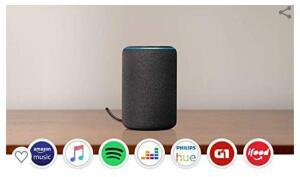 (-30%) Amazon Echo - R$ 489 em 12x s/ juros