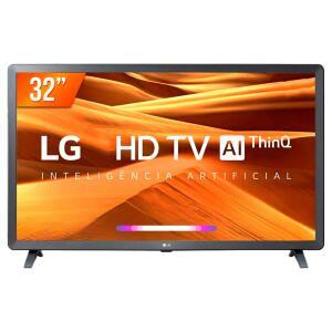 "Smart TV LED 32"" LG, 3 HDMI, 2 USB, Bluetooth, Wi-Fi, Active HDR, ThinQ AI - 32LM621CBSB.A R$ 820"