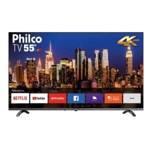 "Smart TV LED 55"" Philco PTV55Q20SNBL Borda Infinita Ultra HD 4K | R$1.799"