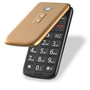 [Prime] Celular Flip Vita Dual Chip MP3 Dourado Multilaser - P9043 R$ 140