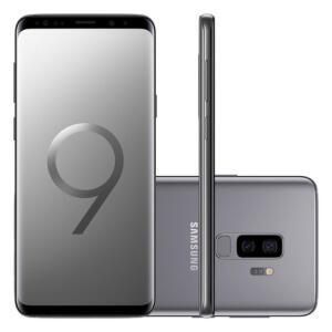 "Smartphone Samsung Galaxy S9 Plus 128GB Cinza 4G Tela 6.2"" Câmera 12MP Android 8.0"
