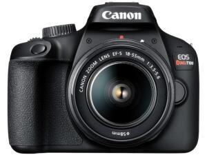 [Clube Da Lu + APP] Câmera Digital Canon Semiprofissional - EOS Rebel T100 | R$1.120