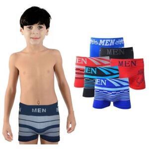 Kit com 10 Cuecas Boxer Infantil Juvenil Microfibra