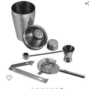 [PRIME] Kit Bar Coqueteleira Profissional Aço Inox 550ml Caipirinha