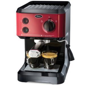 Cafeteira Expresso Oster Cappuccino 1,2L 1170W - Vermelha | R$531