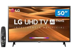 "Smart TV 4K LED 50"" LG 50UM7360PSA Wi-Fi - Inteligência Artificial Controle Smart Magic R$ 1852"