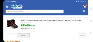 Placa de video rx 550 4GB Power Color Red Dragon