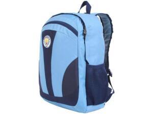 Mochila Juvenil Escolar Masculina Futebol - Tam. G DMW Sports Manchester City Azul