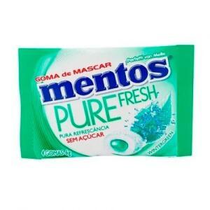 Chiclete Mentos Pure Fresh Sem Açúcar 4 Unidades 6g | R$0,86