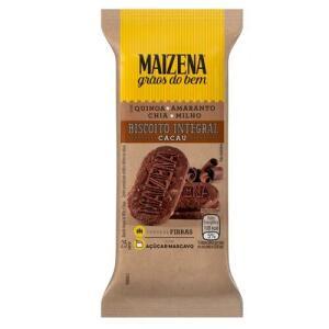 [50% OFF NA 2ª UNIDADE] Biscoito Integral Maizena Cacau 25g | R$0,67 un