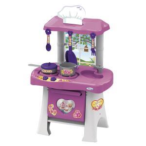 Cozinha Infantil Casinha Flor Pop Rosa E Branca Xalingo R$ 65