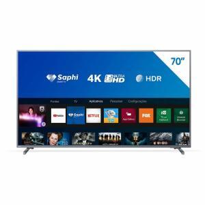 """Smart TV LED 70"""" 4K Philips a partir de R$4.049,10"""