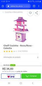 Buuug... Cheff Cozinha - Roxo/Rosa - Calesita