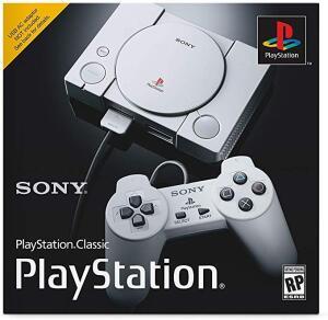 Ps1 Classic com 20 jogos na memória + 2 controles + HDMI + USB