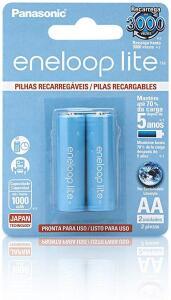 [PRIME]Pilha Lite Recarregável, Eneloop, BK-3LCCE/2BB, AzulAA (Pequena