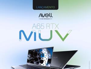 Notebook Avell A65 MUV i7-9750H 16 GB RAM RTX 2070 Max-Q 8 GB SSD 512 GB Tela Full HD IPS 144HZ