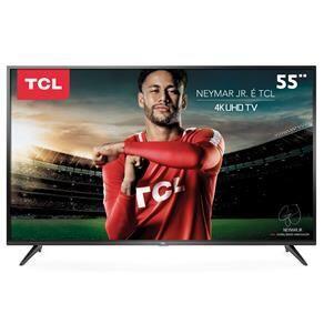 """Smart TV LED 55"""" UHD 4K TCL 55P65US com HDR, Wi-Fi Integrado, Dolby Audio, Design Slim, Entradas HDMI e USB"""