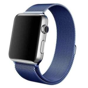 Pulseira Flix Milanese Aço Loop Metal Azul Apple Watch 1 2 3 4 - 42mm / 44mm