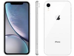 "iPhone XR Apple 64GB Branco 4G Tela 6,1"" Retina - Câmera 12MP + Selfie 7MP iOS12 Proc. Chip A12"