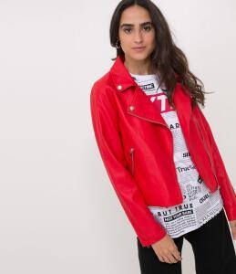 Jaqueta Lisa em Material Sintético R$80