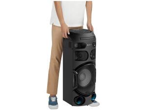 (FRETE GRÁTIS EM 10X S/JUROS) Mini System One Box Torre Sony Muteki MHC-V42D com DVD, Conexão USB, HDMI,