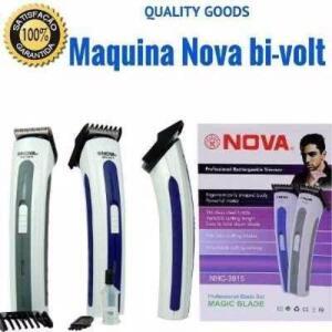 Máquina Nova Corta Cabelo Fazer Barba Pezinho Recarregável - R$15