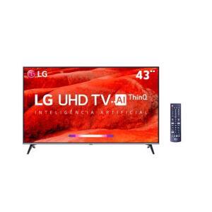 "Smart TV LED 43"" UHD 4K LG 43UM7510   R$1440"
