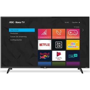 "Smart TV 32"" HD AOC RokuTV 32S5195/78G | R$809"