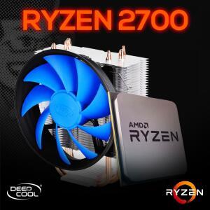 Processador AMD Ryzen 7 2700 3.2GHz / 4.1GHz Max Turbo Octa Core 16MB + DeepCool Gammaxx 300
