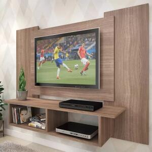 Painel para TV Até 48 Polegadas Anthony 2 Nichos Teka - Pnr Móveis - R$110