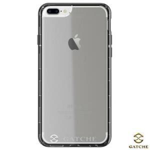 Capa Original Hibrida para iPhone 7 Plus, 6s Plus e 6 Plus de Poliuretano Jet Black - Gatche - GAT-10IP7PLJTB
