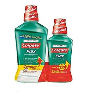 Colgate Plax Fresh Mint Leve 500ml + 250ml - Frete Grátis Prime
