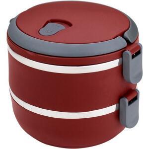 [1ª COMPRA] Marmita Lunch Box Vermelho - Euro Home