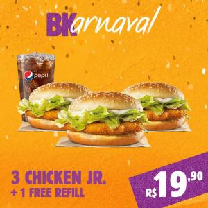 3 Chicken JR + Free Refil
