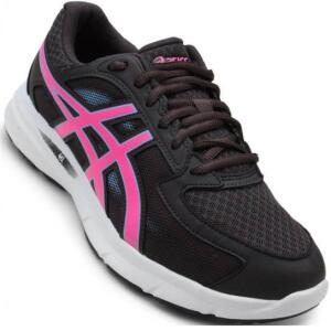 Tam. 34 Tênis Asics Gel Transition Feminino - Grafite e Pink